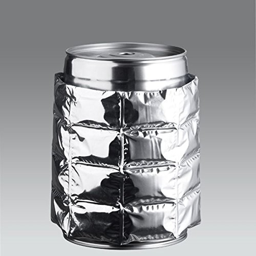 ich-zapfe.de 443411 Kühlmanschette, Kunststoff, silber, 20 x 15 x 2 cm