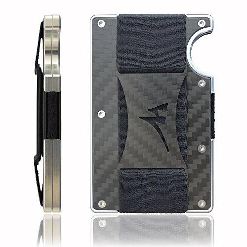 Martrams - Porta Carte Di Credito In Fibra Di Carbonio Con Chiusura RFID 3c33de2a402