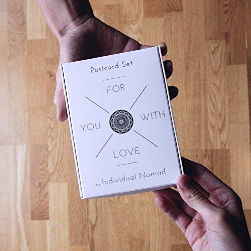 Postkarten Set Love – 20 schöne Bilder und Sprüche zum Thema Liebe, Beziehung, Valentinstag im retro Polaroid Style von INDIVIDUAL NOMAD