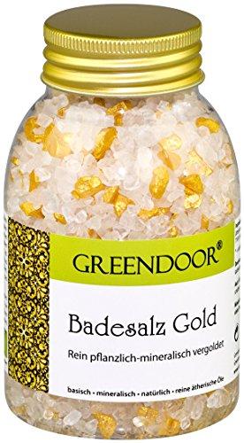 Greendoor Sels de bain OR - mousseux, chatoyant, sur purement naturel minéral + plante Base, Innovation de bien-être de notre Manufacture