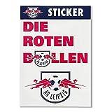RB Leipzig Aufkleber / Sticker 2er Set Logo plus Die Roten Bullen - Rasenballsport Leipzig