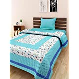 Indram 100% Cotton Single Bedsheet Without Pillow Covers Floral Printed Design