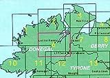 Ordnance Survey Ireland Blatt 6, Donegal, Irland Nordwestküste topographische Wanderkarte 1:50.000
