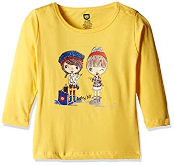 612 League Baby Girls' T-Shirt (ILW00S780016C_Yellow_3-6 months)