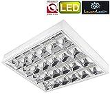 SUPER LED Rasterleuchten geeignet für 4X T8 LED 9W Bürolampe Rasterlampe