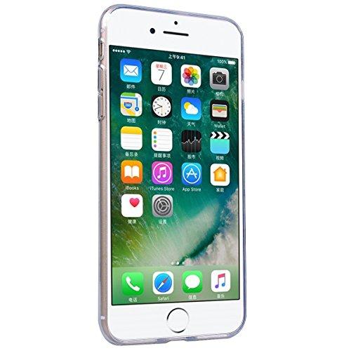 Custodia iPhone 7, Dexnor Cover Apple iPhone 7 Custodia Silicone Trasparente 3D Modello Morbido Gel Gomma TPU Bumper Slim Case Sottile Antiurto Copertura Protezione Protettiva Back Cover - Mandala Blumen Flower