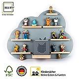BOARTI Kinder Regal Wolke in grau - geeignet für die Toniebox und ca. 43 Tonies - zum Spielen und sammeln