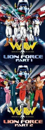Voltron: Lion Force Parts 1 & 2 1980's TV DVD Set (Voltron Lion Force)