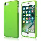 Coque Ultra Fine en Gel Flex TPU pour Apple iPhone 7 - Collection Transparent Mat - Vert - par PrimaCase