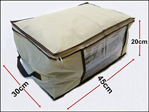 Generic NV _ 1001002544_ NH _ Eur17.. 45x 30x 20cm Bettwäsche Feld unter Bett HES S Trunk Brust Kleidung Schuhe Brust C beige Big Aufbewahrung Bettwäsche T Toys Box U -