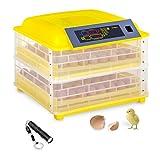 incubato Incubatrice per Uova Automatica IN-96DDI (96 Uova, 120 W, Lampada sperauova incl, Regolazione Intelligente della Temperatura 20-50 °C)