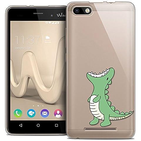 Coque Pour Wiko Jerry , Sunrive® Silicone Étui Housse Protecteur souple TPU Gel transparent Back Case(tpu dinosaure)+ STYLET OFFERTS