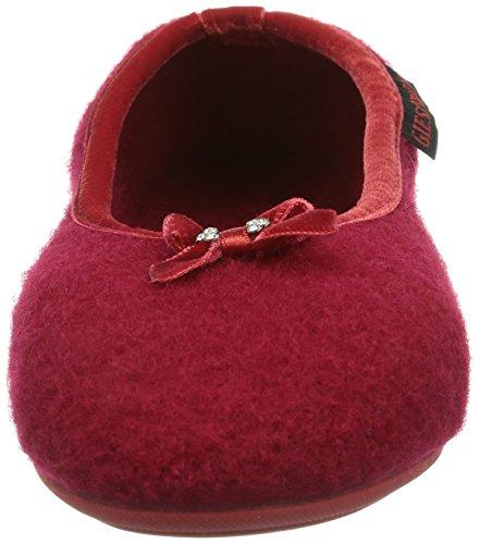 Giesswein Hohenau, Pantofole Donna Rosso (Rot (kirschrot))