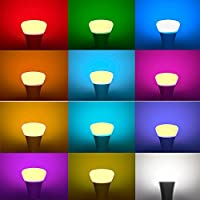 10W E27 LED Bulbs, Minkle RGBW 12 Colours Changing Light Bulbs with 21 Key Remote Control, Dimmable Mood Lighting Lamps [Energy Class A ++] ¡­ from Minkle