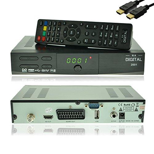 NA-Digital 2001 HD HDTV Digital Satelliten-Receiver 230v/12v | HD Receiver für satelliten | HDMI SCART USB 2.0 Full HD 1080p | vorprogrammiert für Astra Hotbird Türksat