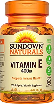 Sundown Naturals Sundown Naturals Vitamin E, 100 caps 400 IU from Sundown Naturals