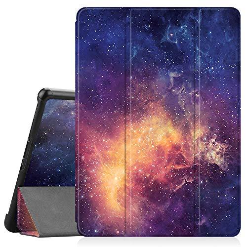 amsung Galaxy Tab S4 10.5 2018 mit S Pen Halter - Ultra Schlank Ständer Schutzhülle Case mit Auto Schlaf/Wach Funktion für Samsung Tab S4 10.5 Zoll Tablet T830/T835, Die Galaxie ()