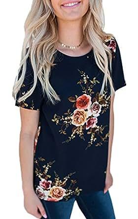 2eb281445ef6 Bild nicht verfügbar. Keine Abbildung vorhanden für. Farbe  Freestyle Sommer  Damen Tops Sweatshirt Oberteile Fashion Print Blouse T-Shirt ...