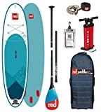 Red Paddle Co 2018 Ride 10'8 Inflatable Stand Up Paddle Board + Bag, Pump, Paddle & Leash Paddle Option - Glassfibre 3-Piece