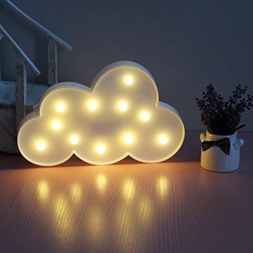 XIYUNTE LED Nube Modelado Lámparas Luces nocturnas - Iluminación infantil nocturna Lámparas de pared, Lámparas Decoración casera para la sala de estar, navidad, partido, dormitorio de las muchachas, regalo de cumpleaños(white cloud)
