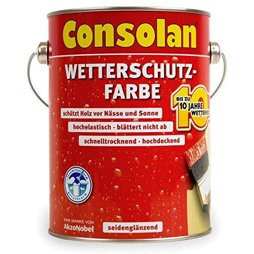Consolan  <strong>Geeignet für</strong>   Holz, Fachwerk, Holzhaus, Holzverkleidungen, Schindeln, Klappladen, Zinkblech