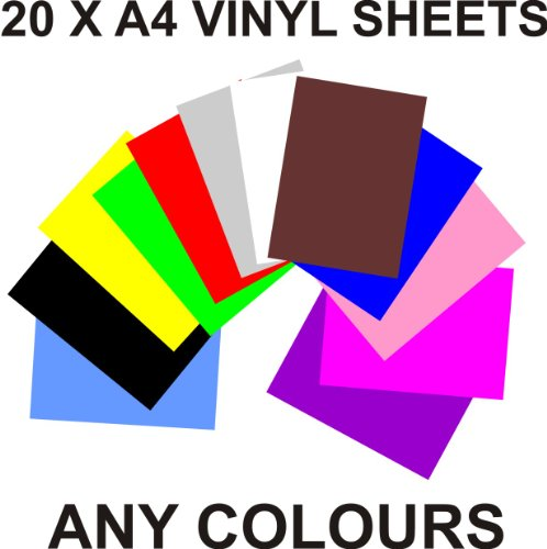 a4-vinyl-self-adhesive-sheets-x-20-any-colours-crafts-art-robo-craft-by-greenstar-graphics