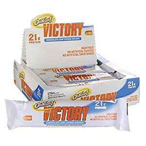 Iss Research Oh Yeah Victory Chocolate Chip Cookie Dough Bars - Pack of 12 Bars