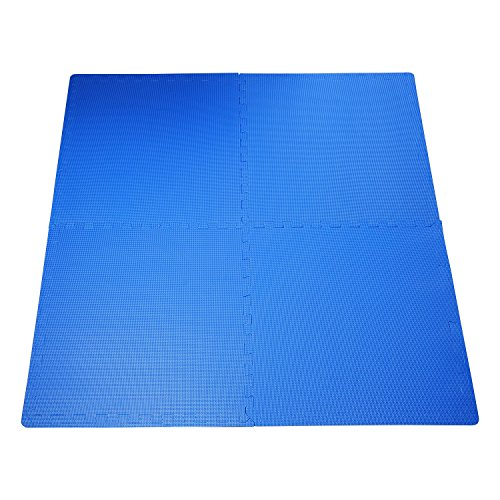 Outsunny HOMCOM Tappeto Gioco Bimbi 60x60cm Set 8 Pezzi, Materiale Isolante, Resistente all\'umidità Blu