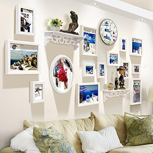 Home @ Wall Bilderrahmen Foto Wandrahmen Wand Kombination Wohnzimmer Creative Regal Wände Schlafzimmer Bilderrahmen ( Farbe : E , größe : 215*105cm )
