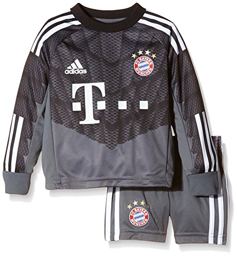 adidas Kinder Torwarttrikot und Torwarthose FC Bayern Goalkeeper Mini Kit, Onix/Black/White,92, M36105