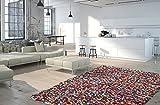 Moderner Designer Teppich Wohnzimmer Kurzflor MIRACLE multicolour abstrakt - 80x150 cm