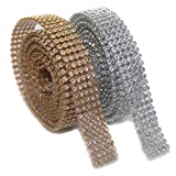 #6: Stones sheet/stone lace 5 line for jewellery making, golden & silver combo (each 1.25 mtrs)
