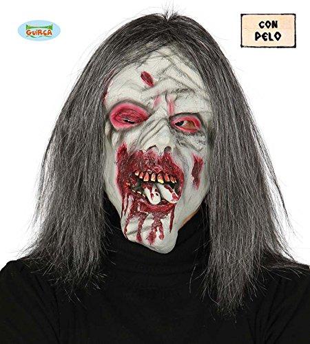 Guirca Fiestas GUI2461 - Zombiemaske mit Haaren