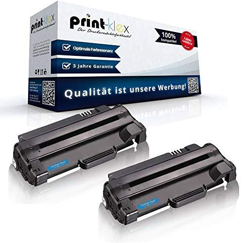 2x Kompatible Tonerkartuschen für Dell 1130 1130 n 1133 1135 n 593-10961 7H53W 59310961 593-10962 59310962 P9H7G 3J11D Schwarz Black - Office Print Serie - 1135 Toner Patrone