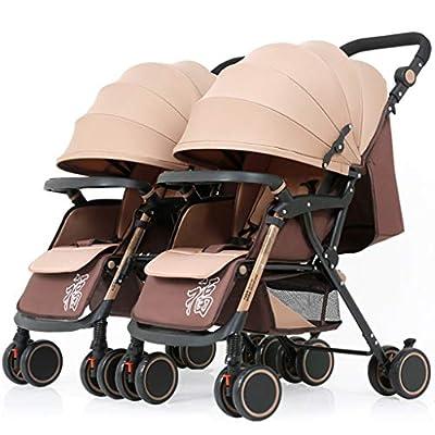 Mini Cochecito portátil, Cochecito de bebé Ligero y Delgado de la Capilla del Almacenamiento, Cubierta de Viaje Desmontable/Ajustable Car Trolley Twin