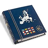 Leuchtturm 341306 RingbinderVista Euro Classic, farbige Rücken- und Deckelprägung, mit Schutzkassette, Blau