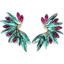 34eb948f5b6c Pendientes Cristales Colores Mujer Pendientes Fiesta Boda Medio Aro