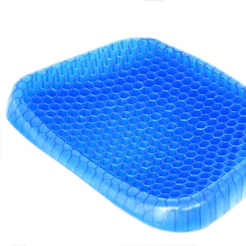 THANMAYA Cushion Seat Flex Pillow, Gel Orthopedic Seat Cushion Pad for Car, Office Chair, Wheelchair, or Home. Pressure Sore Relief. Ultimate Gel Comfort (Blue Colour)