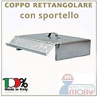 COPPO 25X34 CM CON SPORTELLO X COTTURA SOTTO BRACE EFFETTO FORNO NEL CAMINETTO