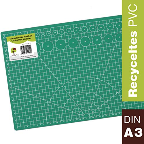 OfficeTree Set estera corte - 45x30 cm A3 verde -