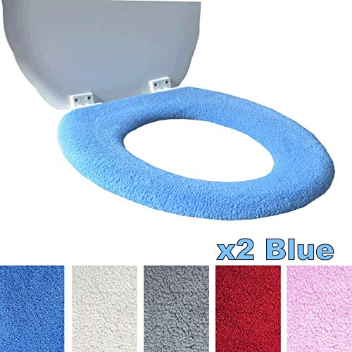 Toilettensitzabdeckung - Superwarmes Fleece - Metall Sicherungsscheibe - Universalgröße - Maschinenwäsche