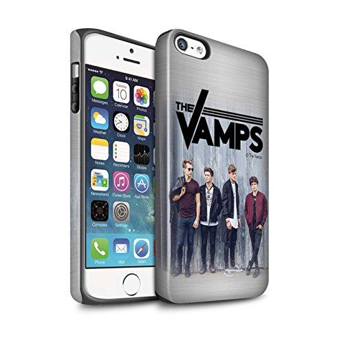 Officiel The Vamps Coque / Matte Robuste Antichoc Etui pour Apple iPhone 5/5S / Pack 6pcs Design / The Vamps Séance Photo Collection Brossé