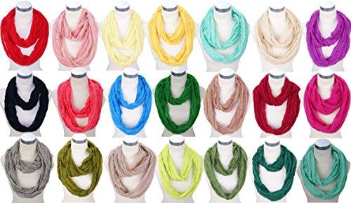 Sciarpa Knitter rotondo sciarpa tubo sciarpa loop sciarpa in diversi colori Bonbon Dame mode 2016 verde scuro Taglia unica