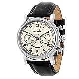 Tempo libero meccanico automatico orologio da polso impermeabile in vera pelle con Roma Digital Business per varie occasioni M193S
