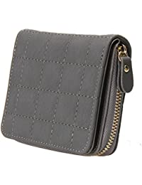 864559aea1 ... discount · Bestvech Women s Pu Leather Plaid Purses Nubuck Card Holder