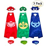 3 Capes und Masken für Kinder - Halloween Kostüm (3 Pack with Bracelet)