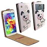 Mobistel Cynus F6 Smartphone Klappbare Flip Tasche / Schutzhülle mit Kreditkartenfach - Flip Hund dalmatiner Nano M