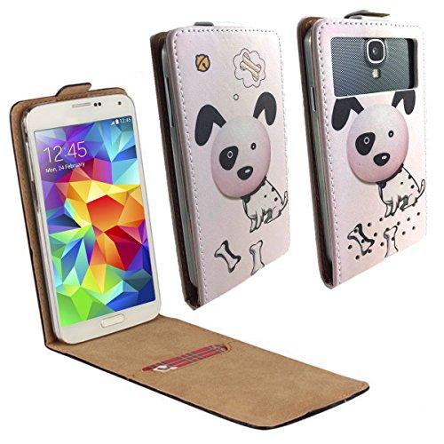 UMI ROME X Smartphone Klappbare Flip Tasche / Schutzhülle mit Kreditkartenfach - Flip Hund dalmatiner Nano L (Dalmatiner Kit)