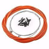 Fietsremkabels en schakelkabel voor fietsen Geschikt voor draadremkabel, kap, uiteinden van remkabeluiteinden Fietsremkabelset(Oranje)