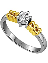 Surat Diamond 18k (750) Yellow Gold And Diamond Solitaire Ring - B01M6ATJER